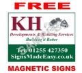 REGULAR - x5 4mm Correx site boards......... with FREE magnetic signs